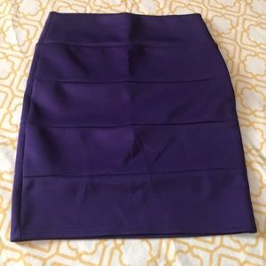 Royal purple pencil skirt